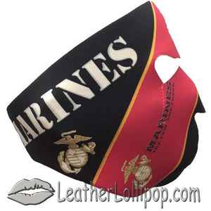 Full Face Neoprene Face Mask with Marine Corps Design - SKU LL-FMZ25-MARINE-HI - Leather Lollipop
