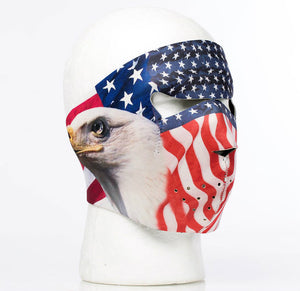 American Bald Eagle Neoprene Full Face Mask - SKU LL-FMZ12-HI - Leather Lollipop