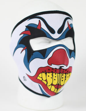 Clown Neoprene Full Face Mask - SKU LL-FMD06-WNFM005-HI - Leather Lollipop