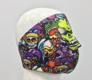 Color Skulls Neoprene Full Face Mask - SKU LL-FMZ06-HI - Leather Lollipop
