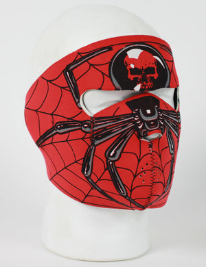 Spider Spiderman Neoprene Full Face Mask - SKU LL-FMF16-MA1001-HI - Leather Lollipop