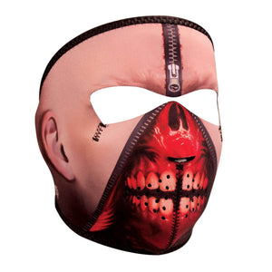 Zipper Face Neoprene Full Face Mask - SKU LL-WNFM108-HI - Leather Lollipop
