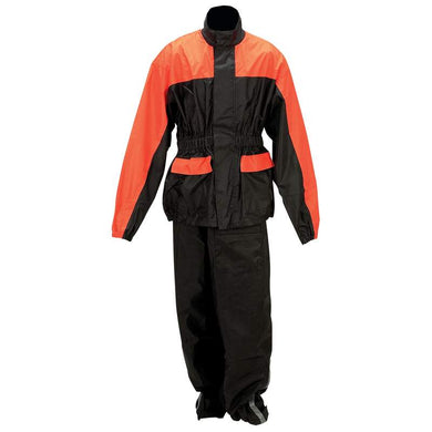 Diamond Plate Motorcycle Biker Two Piece Rain Suit - SKU LL-GFRSPK-BN