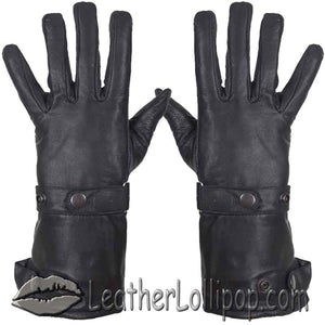 Long Leather Summer Riding Gauntlet Gloves - SKU LL-GL2064-DL