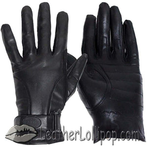 Full Finger Leather Riding Gloves with Air Vents - SKU LL-GL2095-DL
