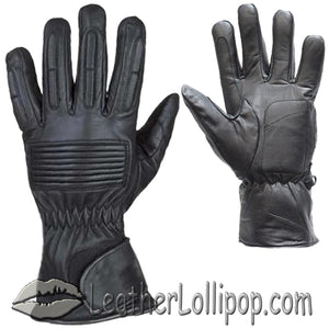 *IRREGULAR* Mens Full Finger Leather Motorcycle Riding Gloves - SKU LL-GL2099-00-DL