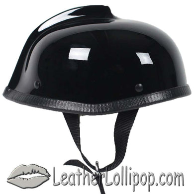 Gladiator Novelty Motorcycle Helmet in Gloss Black - SKU LL-GLAD-NOV-HI - Leather Lollipop