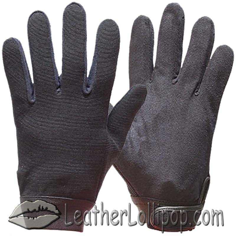 Black Mechanics Gloves - SKU LL-GLZ50-DL