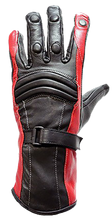 Ladies Leather Gauntlet Gloves in Red White or Blue - SKU LL-GLZ60-DL
