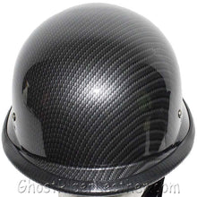Faux Carbon Fiber LOOK German Motorcycle Novelty Helmet / SKU GRL-H402-CF-DL