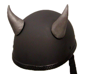 Bull Horns - Helmet Horns - Large Curved Horns - Motorcycle Helmet Accessories - SKU LL-HA-21S-HI