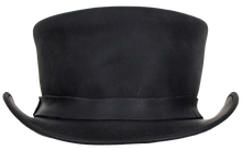 Black Leather Deadman Top Hat - SKU LL-HAT1-11-DL