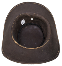 Brown Leather Gambler Hat - SKU LL-HAT11-11-DL