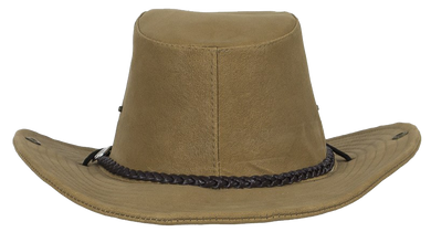 Brown Cowboy Hat - SKU LL-HAT11-DL - Leather Lollipop