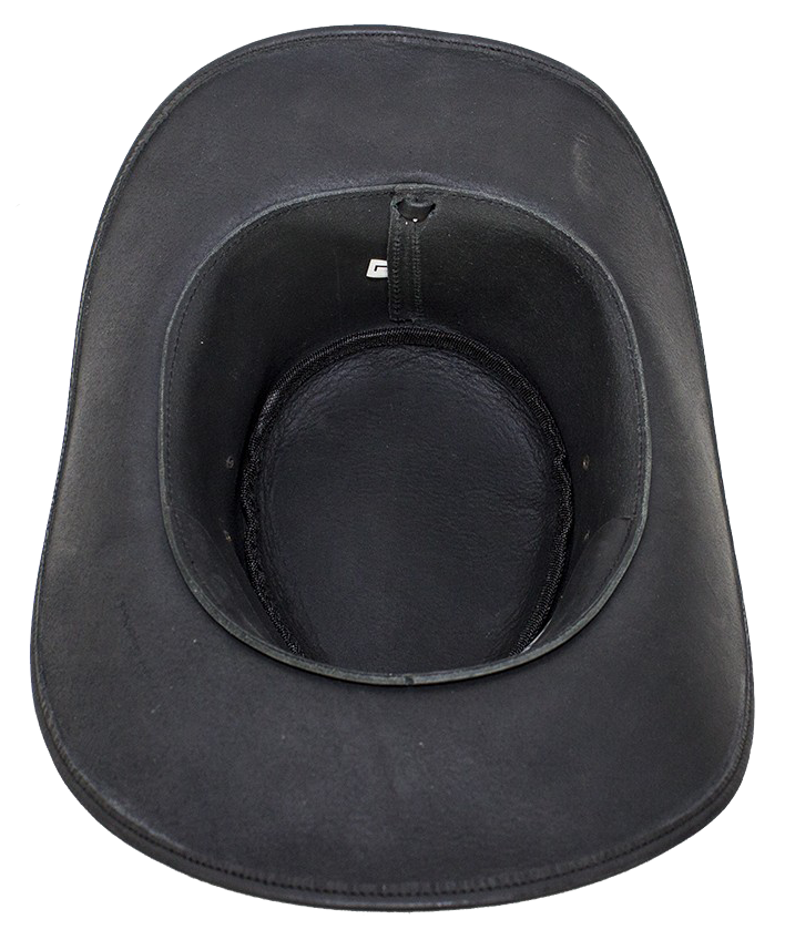 25b0c0bc9a9 Black Leather Gambler Hat with Conchos - SKU LL-HAT12-11-DL ...