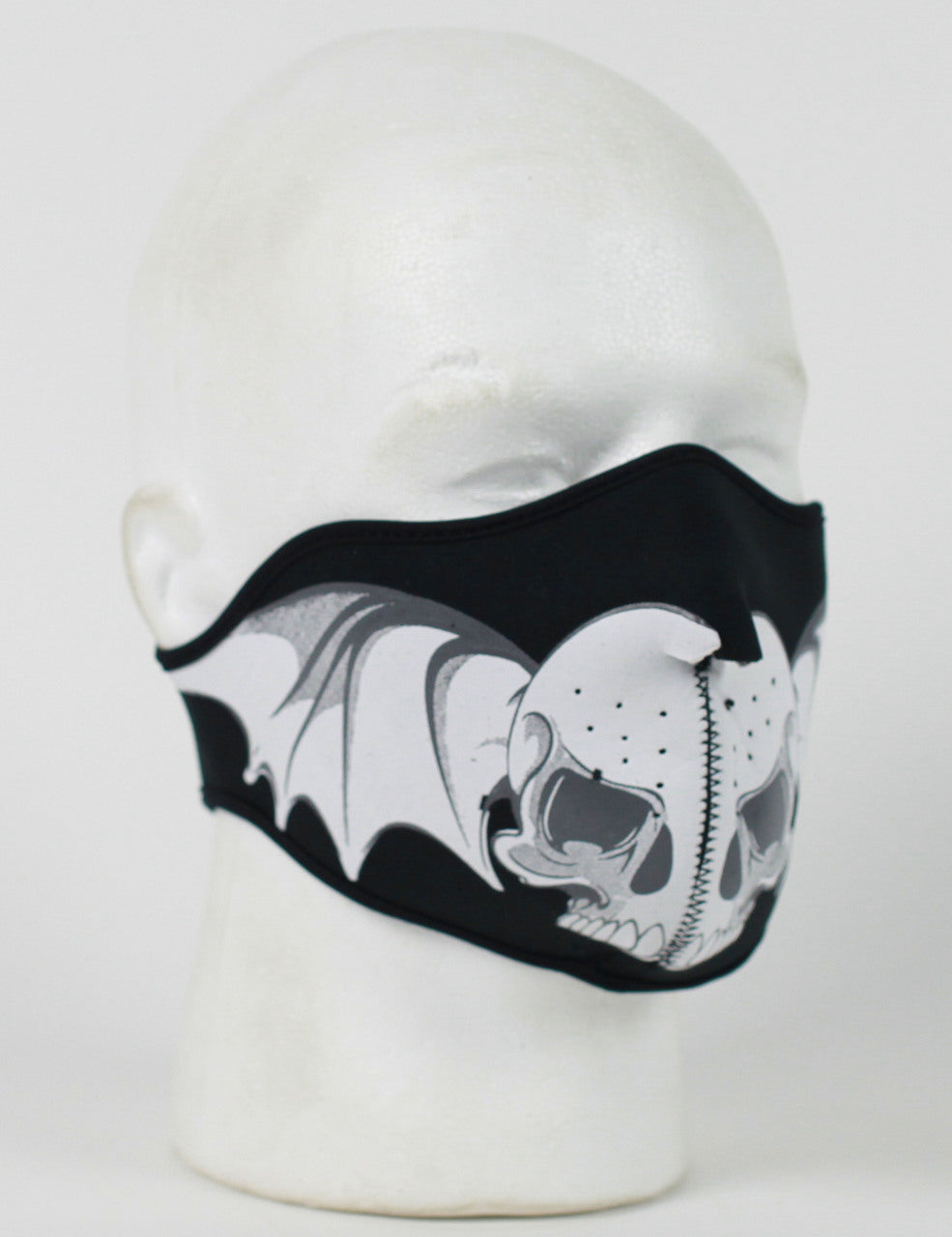 Skull Wings Half Face Neoprene Face Mask - SKU LL-FMT15-SWINGS-HI - Leather Lollipop