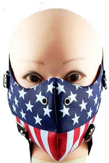 American Flag Half Face Mask in Pleather - SKU LL-FMW49-HI