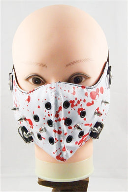 Butcher Pleather Half Face Mask in Faux Leather - SKU LL-FMW42-HI - Leather Lollipop