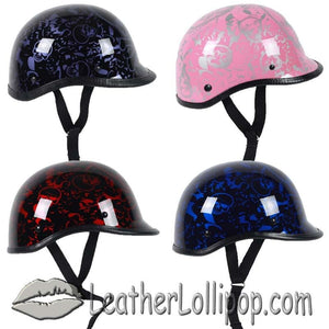 Polo Jockey Novelty Motorcycle Helmet Boneyard Colors - SKU LL-BY-POLO-NOV-HI - Leather Lollipop