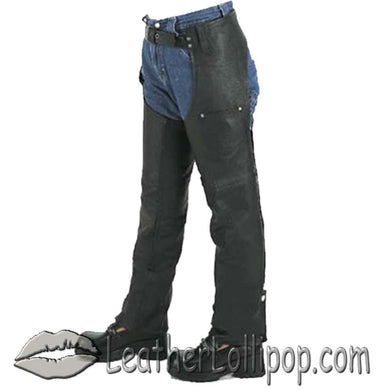 Kids Leather Chaps With Pocket - SKU LL-KD360-DL