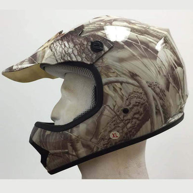 DOT Kids ATV - Dirt Bike - Motocross - Helmets - Camo Leaf - SKU GRL-DOTATVKIDS-CAMOLEAF-HI