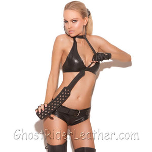 Leather Paddle With Nail Heads - 50 Shades of Grey Style - SKU GRL-L9990-EML