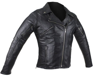 Ladies Pleated Concealed Carry Leather Jacket - SKU LL-LJ289-11-DL - Leather Lollipop