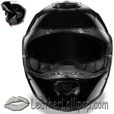 DOT Daytona Glide Modular Motorcycle Helmet in Gloss Black - SKU LL-MG1-A-DH