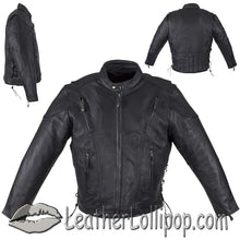 Mens Motorcycle Racer Jacket with Gun Pockets - SKU LL-MJ711-DL