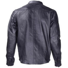 Mens Leather Shirt with Snap Closure - SKU LL-MJ777-SS-DL - Leather Lollipop