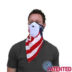 Neodanna Half Mask Made of Neoprene and Cotton - USA Flag Design - SKU LL-FMB04-HI - Leather Lollipop