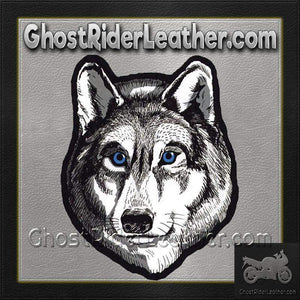 Large Wolf Head with Blue Eyes Patch / SKU GRL-PAT-A47-DL