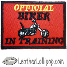 Two Official Biker In Training Patches - SKU LL-PAT-D610-DL