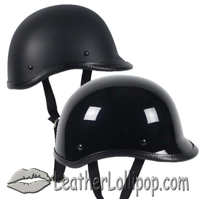 Polo Jockey Novelty Motorcycle Helmet Flat or Gloss - SKU LL-POLO-NOV-HI - Leather Lollipop