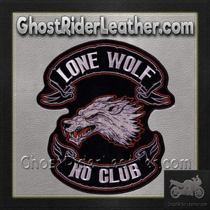 Lone Wolf No Club Vest Patch - SKU GRL-PPA2226-HI