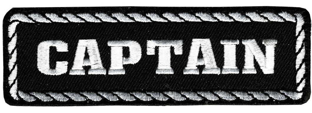 Captain Vest Patch - SKU LL-PPD1010-HI - Leather Lollipop