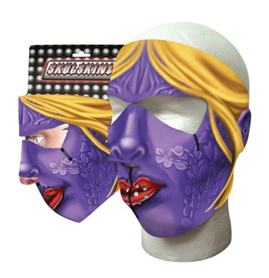 Full Face Purple Woman Neoprene Mask - SKU LL-PURPLEWOMAN-HI