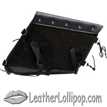 PVC Motorcycle Solo Swing Arm Bag with Studs - SKU LL-SD4093-STUD-SOLO-DL