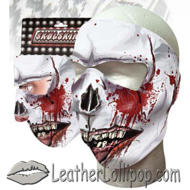 Full Face Neoprene Face Mask with Zombie Feast Design - SKU LL-ZOMBIE-FEAST-HI