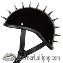 Spiked Gladiator Novelty Motorcycle Helmet in Gloss or Flat Black - SKU LL-H403-H503-02-DL