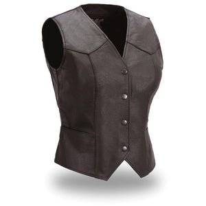 Sweet Sienna - Women's Leather Motorcycle Vest - Leather Lollipop