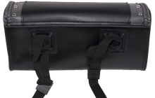 Black and Gray PVC Motorcycle Tool Bag - Fork Bag 10 or 12 Inch - SKU LL-TB3030-DL