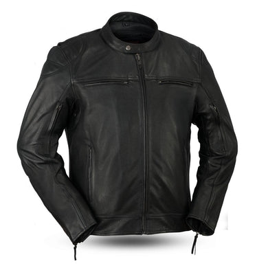 Top Performer - Men's Leather Motorcycle Racing Style Jacket - FIM288CHRZ - Leather Lollipop