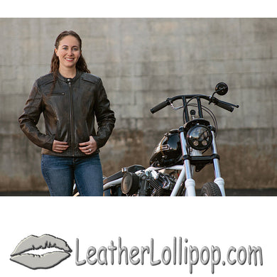 Trickster - Women's Leather Motorcycle Jacket - FIL164SDC - Leather Lollipop