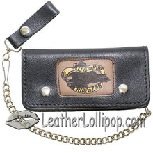 Heavy Duty Live To Ride Leather Motorcycle Chain Wallet - SKU LL-WALLET2-11HD-DL