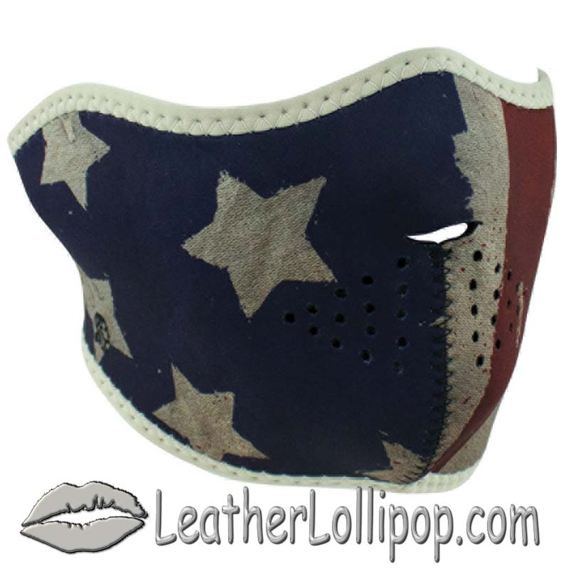 Half Face Mask With Patriot Design - SKU LL-WNFM408H-PATRIOT-HI