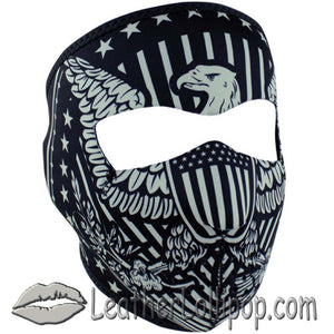 Full Face Mask With Vintage Eagle Design - SKU LL-WNFM412-VINTAGE-HI