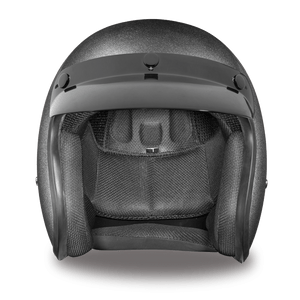 DOT Daytona Cruiser Gun Metal Metallic Open Face Motorcycle Helmet - SKU LL-DC1-GM-DH