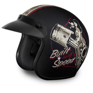 DOT Daytona Cruiser Built For Speed Open Face Motorcycle Helmet - SKU LL-DC6-BFS-DH