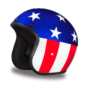 DOT Daytona Cruiser Captain America Open Face Motorcycle Helmet - SKU LL-DC6-CA-DH